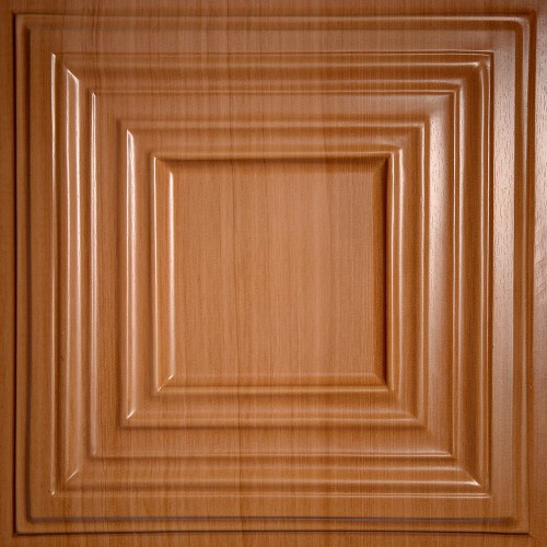 "Bistro 24"" x 24"" Caramel Wood Ceiling Tiles"