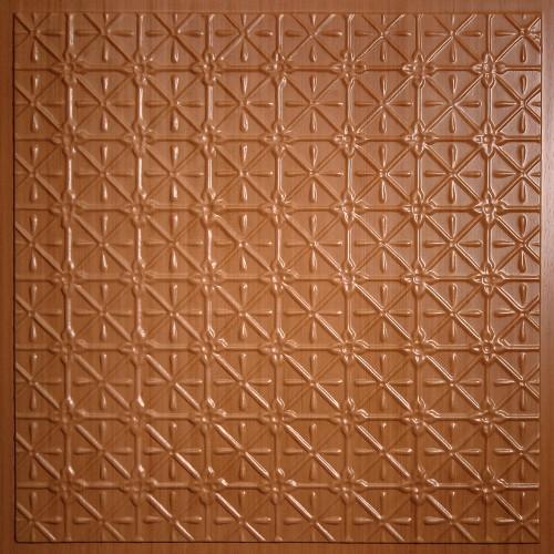 """Continental 24"""" x 24"""" Caramel Wood Ceiling Tiles"""