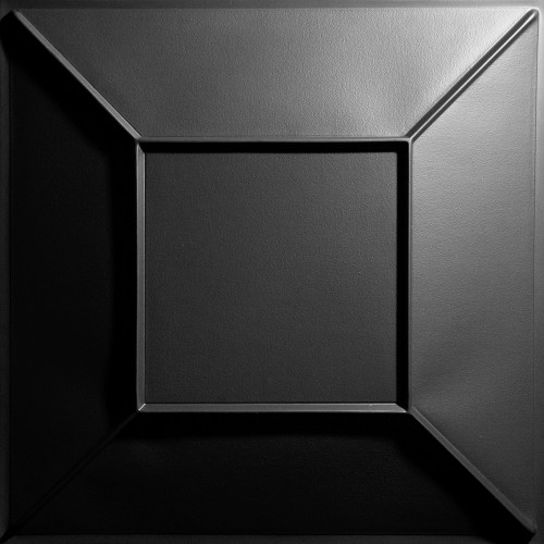"""Convex  24"""" x 24"""" Black Ceiling Tiles"""