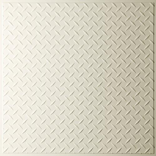"""""""Diamond Plate  24"""""""" x 24"""""""" Sand Ceiling Tiles"""""""