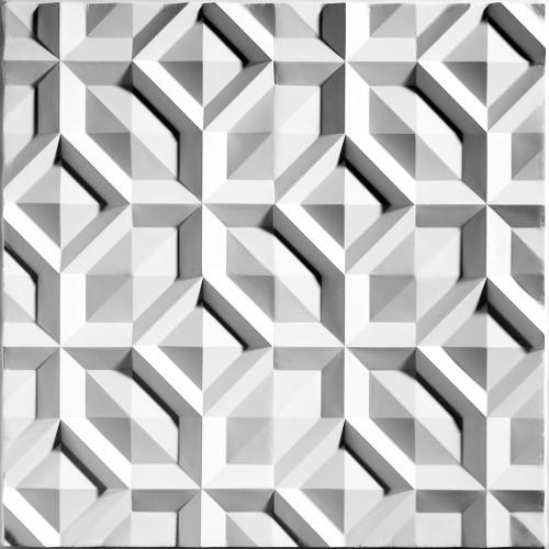 """""""Doric  24"""""""" x 24"""""""" White Ceiling Tiles"""""""