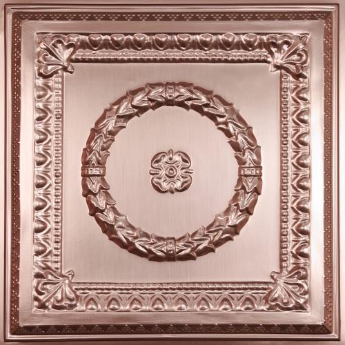 """Evangeline  24"""" x 24"""" Copper Ceiling Tiles"""