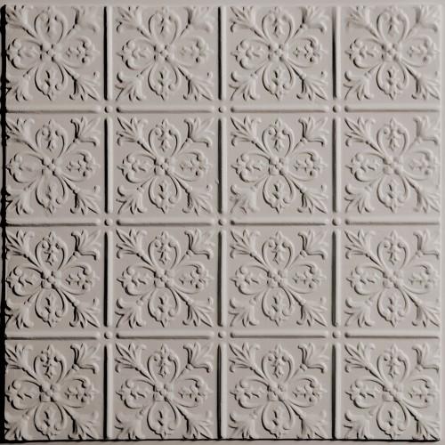 """""""Fleur-de-lis  24"""""""" x 24"""""""" Latte Ceiling Tiles"""""""
