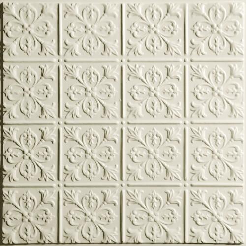 """""""Fleur-de-lis  24"""""""" x 24"""""""" Sand Ceiling Tiles"""""""