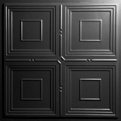 """Jackson  24"""" x 24"""" Black Ceiling Tiles"""
