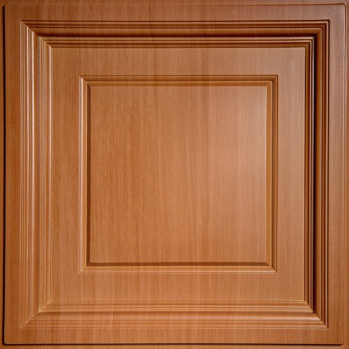 """Madison  24"""" x 24"""" Caramel Wood Ceiling Tiles"""