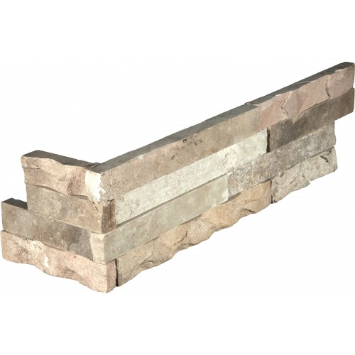 """""""Fossil Rustic Corner """""""" L"""""""" Panel 6x24 (4 Sqft Per Box)"""""""