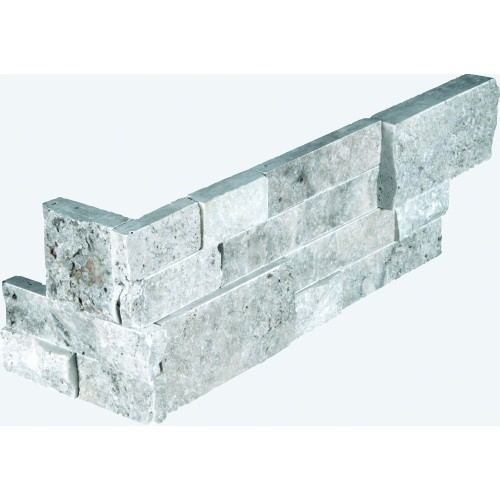 """Silver Travertine Corner """" L"""" Panel 6x24 (4 Sqft Per Box)"""