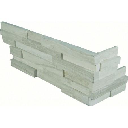 """White Oak 3D Hon Corner """" L"""" Panel 6x24"""