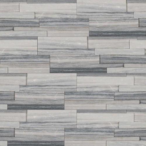 """Alaska Gray 3D Honed """"L"""" Panel 6x18x6"""