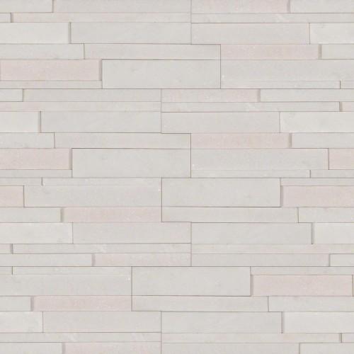 "Arctic White 3D Honed ""L"" Panel 6x18x6"