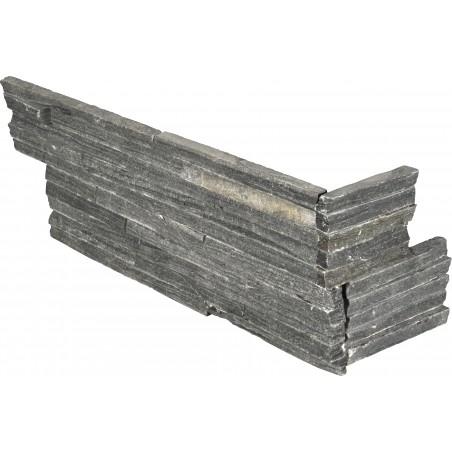 """Charcoal Pencil Corner """"L"""" Panel 6x24 (6 Sqft Per Box)"""