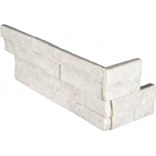 "Arctic White Corner ""L"" Panel 6x24 (4 Sqft Per Box)"