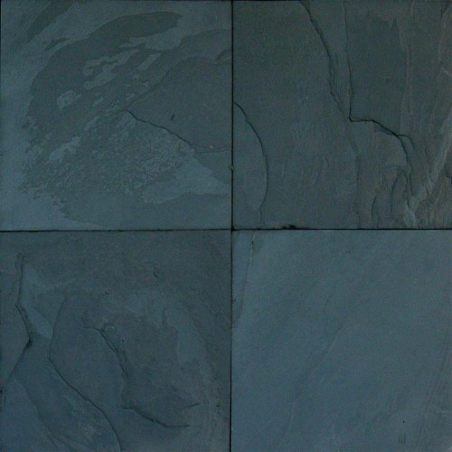 Premium Black Slate Slate 12x12 Tile Gauged