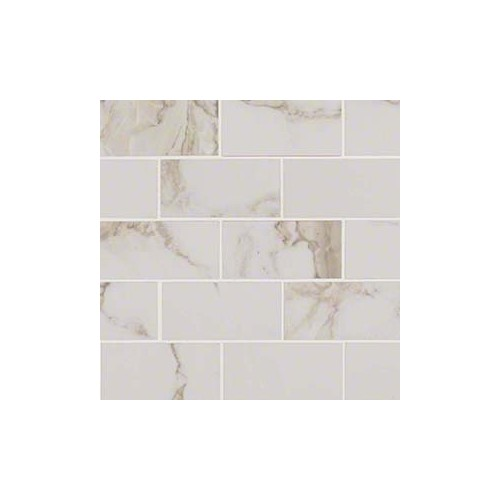 Pietra Calacatta 2x4 White Porcelain Polished 2X4
