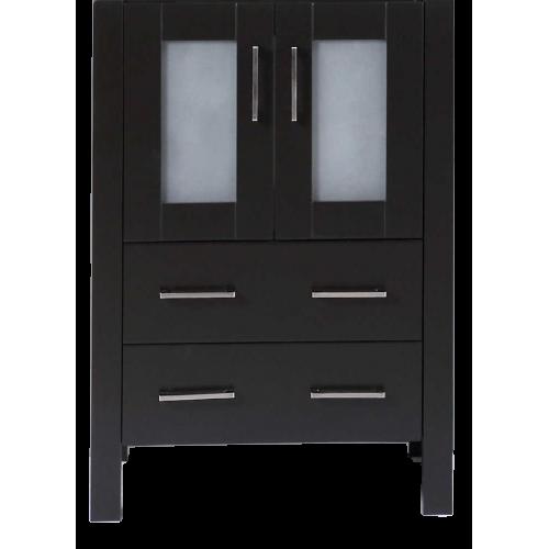 """24"""" A-B-24MC Black Single Vanity Cabinet """