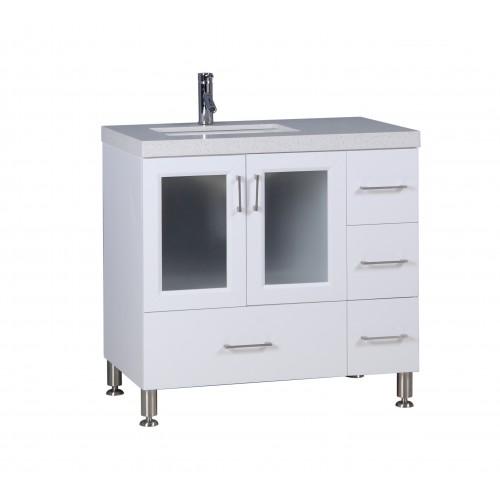 """Westfield 36"""" Single Sink Vanity in White"""