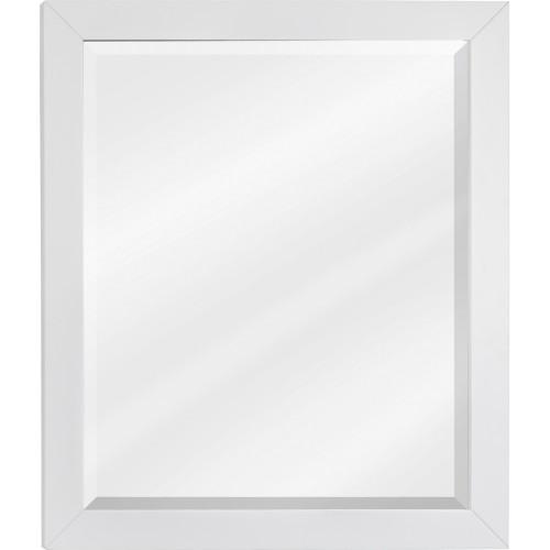 "Cade Contempo White Jeffrey Alexander Mirror 24"" x 28"""