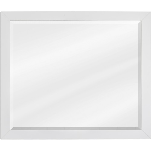 "Cade Contempo White Jeffrey Alexander Mirror 33"" x 28"""