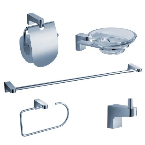 Fresca Generoso 5-Piece Bathroom Accessory Set - Chrome