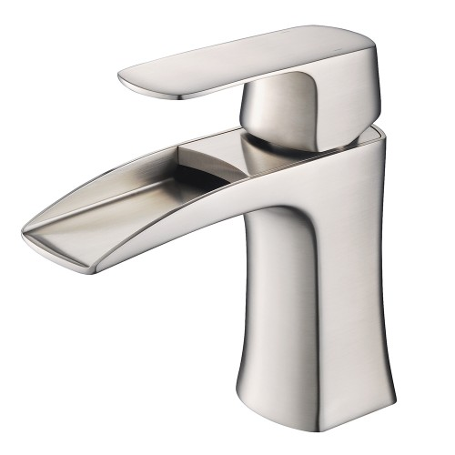 Fresca Fortore Single Hole Mount Bathroom Vanity Faucet - Brushed Nickel