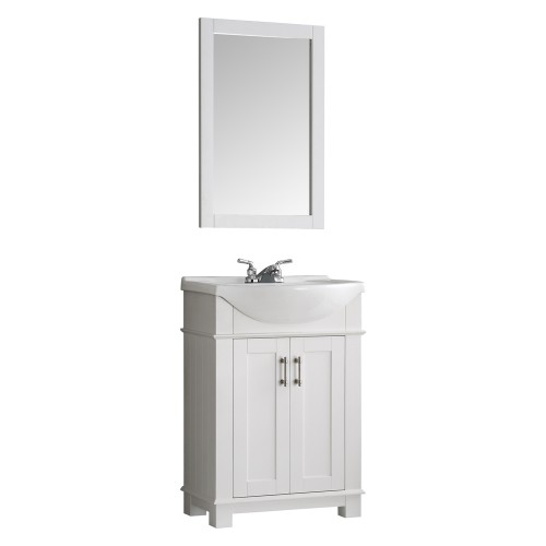 "Fresca Hartford 24"" White Traditional Bathroom Vanity"