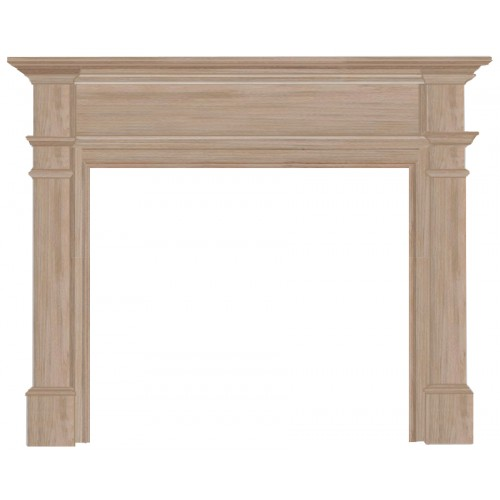 """56"""" Windsor Unfinished Wood mantel. Available Unfinished only.  Paint and stain grade."""