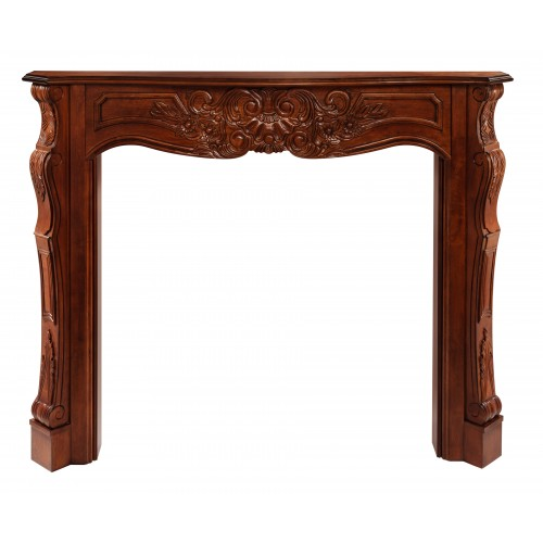 """48"""" Deauville Fruitwood Wood mantel."""