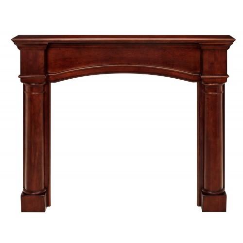 "48"" Princeton Cherry Distressed Finish Wood mantel."