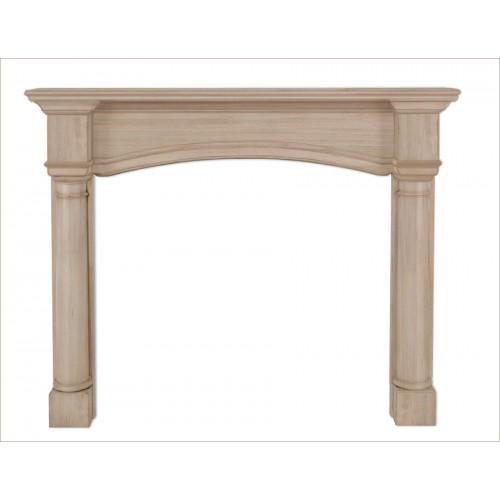 "56"" Princeton Unfinished Wood mantel."