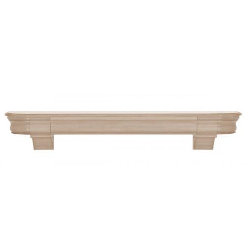 """72"""" Abingdon Unfinished Wood Shelf."""