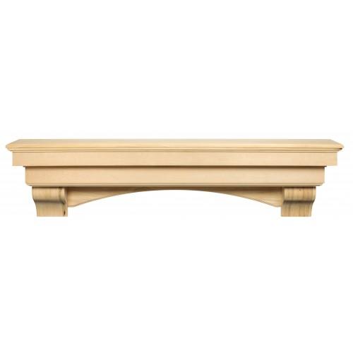 """60"""" Auburn Unfinished Wood Shelf."""