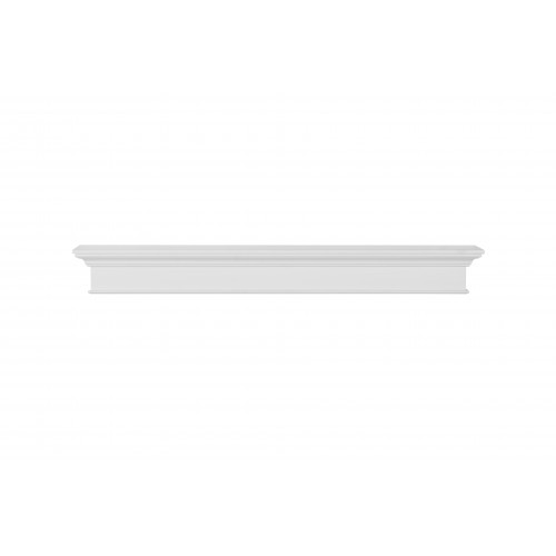 "60"" Henry MDF White Paint Wood Shelf."