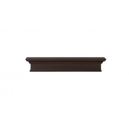 "60"" Henry MDF Chocolate Paint Wood Shelf."