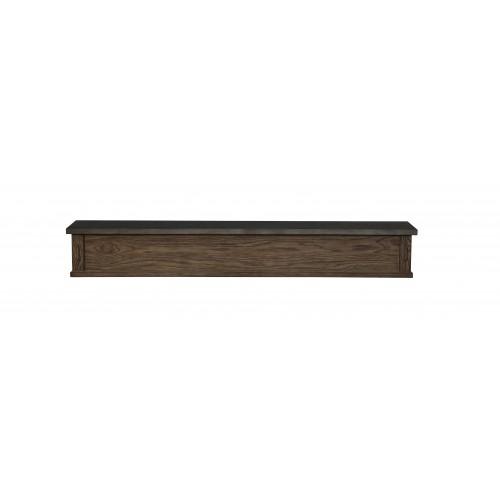 "60"" Park West Brownstone Finish Wood Shelf."