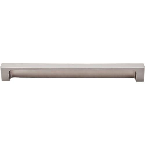 """Modern Metro Tab Pull 8"""" (cc)  Brushed Satin Nickel"""