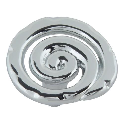 Scroll Knob - Polished Chrome