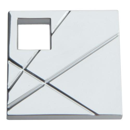 Modernist SquareRight Knob - Polished Chrome