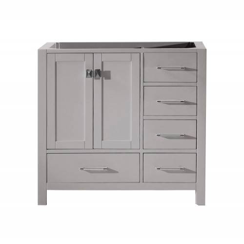 """Caroline Avenue 36"""" Cabinet Only in Cashmere Grey"""