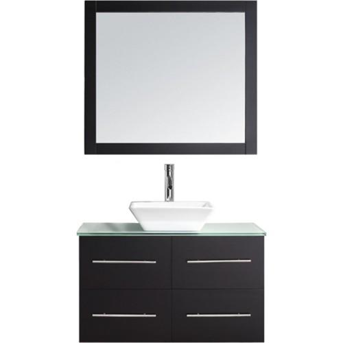 """Marsala 35"""" Single Bathroom Vanity Cabinet Set in Espresso"""