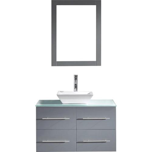 "Marsala 35"" Single Bathroom Vanity Cabinet Set in Grey"