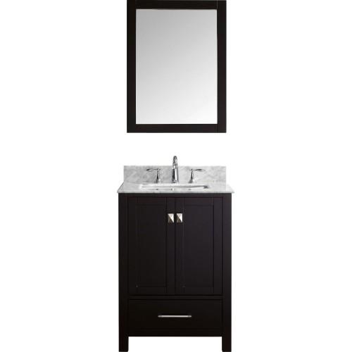 """Caroline Avenue 24"""" Single Bathroom Vanity Cabinet Set in Espresso"""
