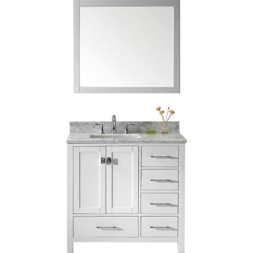 "Caroline Avenue 36"" Single Bathroom Vanity Cabinet Set in White"