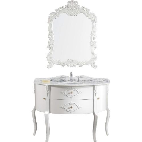 "Abigail 48"" Single Bathroom Vanity Cabinet Set in White"