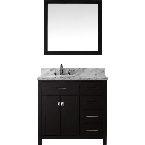 """Caroline Parkway 36"""" Single Bathroom Vanity Cabinet Set in Espresso"""