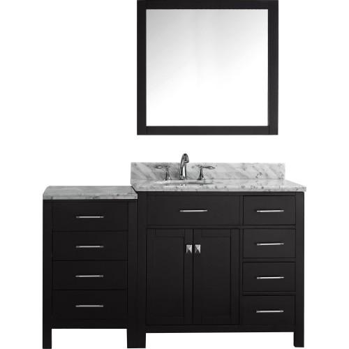 """Caroline Parkway 57"""" Single Bathroom Vanity Cabinet Set in Espresso"""