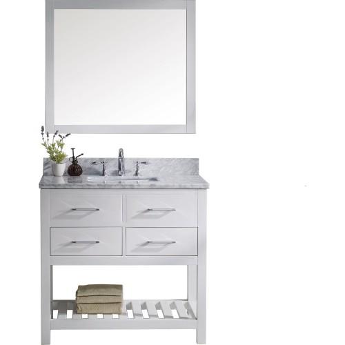 "Caroline Estate 36"" Single Bathroom Vanity Cabinet Set in White"