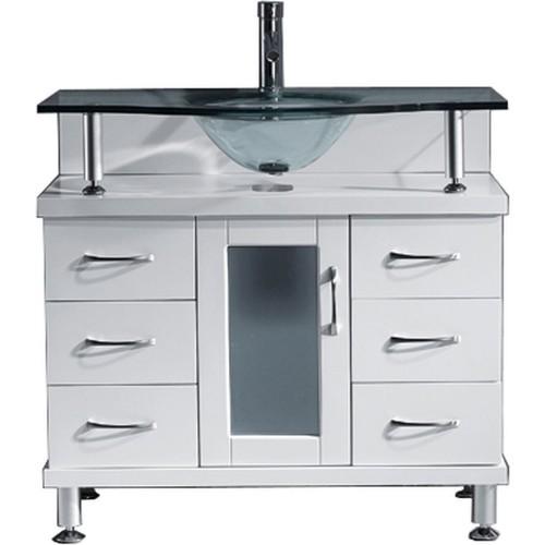 "Vincente 36"" Single Bathroom Vanity Cabinet in White"