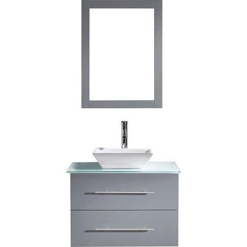 "Marsala 29"" Single Bathroom Vanity Cabinet Set in Grey"