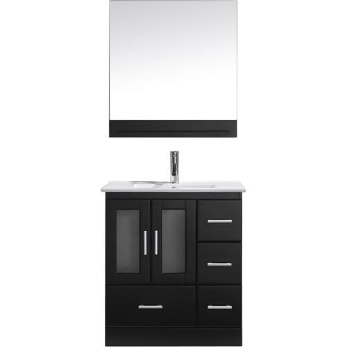 """Zola 30"""" Single Bathroom Vanity Cabinet Set in Espresso"""